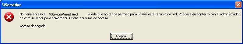 Sin permiso de acceso