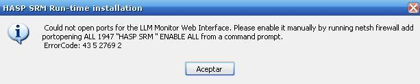 Could not open ports for the LLM Monitor Web Interface