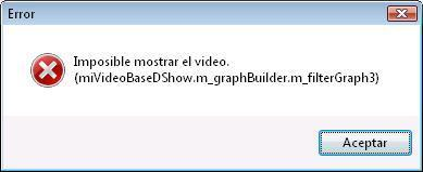 Imposible mostrar el video