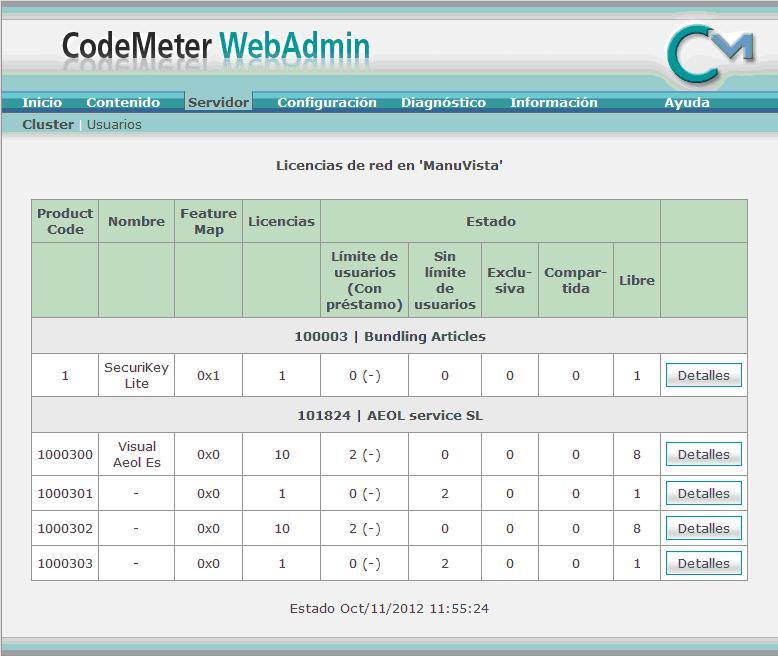 CodeMeter Servidor